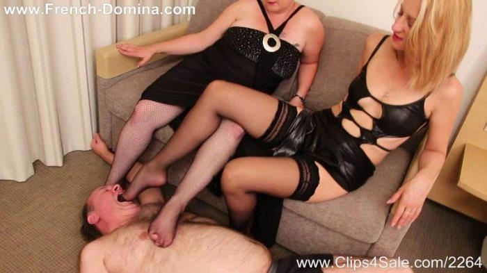 Mistress Louise - Foot cleaner (French-domina) HD 720p
