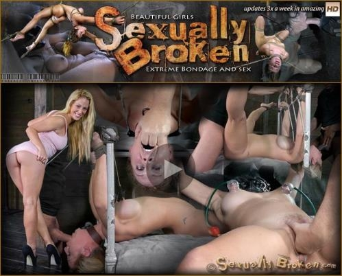 SexuallyBroken.com [Cherie DeVille takes on two cock for the first time ever! Deep throated, bound and fucked! Part 1] HD, 720p
