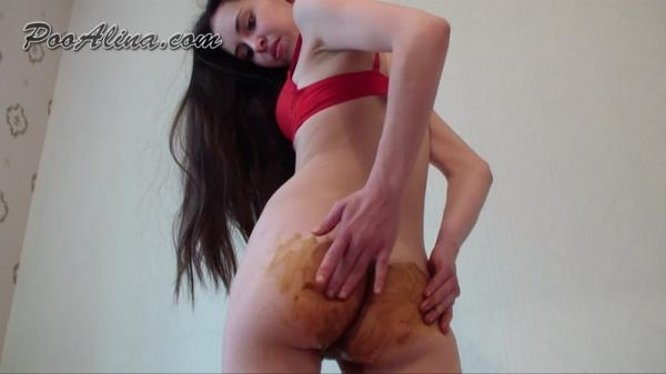 Dirty Alina Pooping in Red Panties (FullHD 1080p)