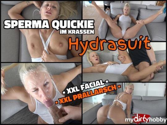 MyDirtyHobby: Lara-CumKitten - Sperm quickie in stark Hydrasuit - SOO I bring everyone to cum (HD/720p/32.5 MB) 24.04.2017