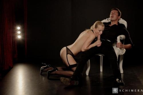 xChimera.com / Porndoepremium.com [Emma Button - Beautiful Czech blondie gets blindfolded and eats cum in hot fetish sex] SD, 480p