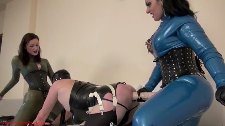 Mistress Ezada Sinn - Spit-roasted and Mistress Vivienne Lamour [MistressEzada / SD]