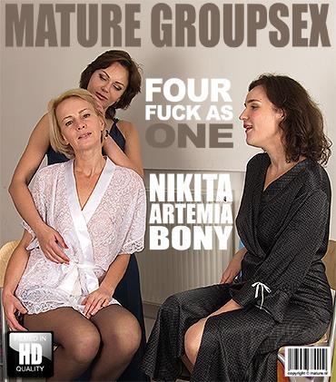 Artemia (44), Bony (34), Nikita V. (32) - Four fuck as one [Mature.nl / FullHD]