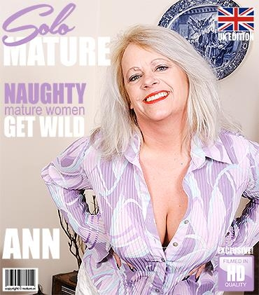 Ann (EU) (47) - British chubby mature lady showing off her big tits - Mature.nl / Mature.eu (FullHD, 1080p)