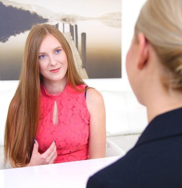 FemaleAgent: Linda Sweet, Tracy Lindsay  - Hot Redhead in Lesbian Casting Fuck (2017) HD  720p
