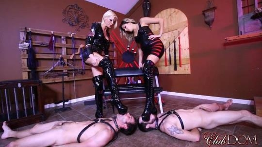 ClubDom: Bella Ink, Nikki Brooks - Slave Cum On Goddess Boots (FullHD/1080p/618 MB) 18.04.2017