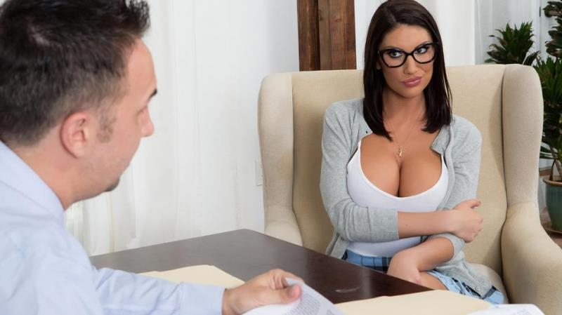 [BigTitsAtSchool.com / Brazzers.com] August Ames - Getting Off The Waitlist [SD, 480p] - 284 MB
