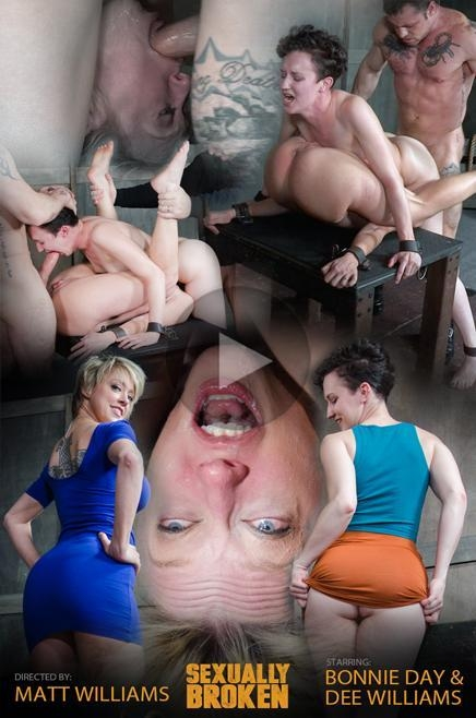 Bonnie Day & Dee Williams bound in a Sexually Broken Sixty Nine. Brutal face and pussy fucking! (SexuallyBroken) HD 720p