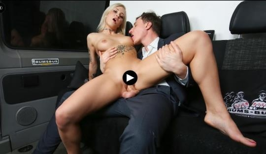 BumsBus, PornDoePremium: Kathi Rocks - Hot German blondie Kathi Rocks gets pussy and ass cum covered in the bus (SD/480p/435 MB) 17.04.2017