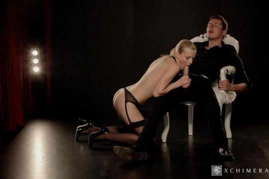 xChimera, Porndoepremium: Emma Button - Beautiful Czech blondie gets blindfolded and eats cum in hot fetish sex (SD/480p/382 MB) 01.04.2017