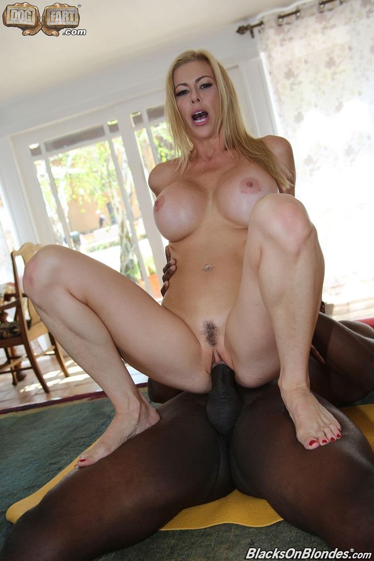 Alexis Fawx - Blonde with Big Tits [DogFartNetwork, BlacksOnBlondes / SD]