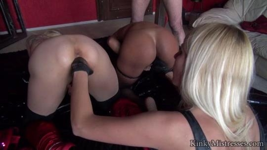 KinkyMistresses: Milked with big rubber gloves (HD/720p/200 MB) 25.04.2017