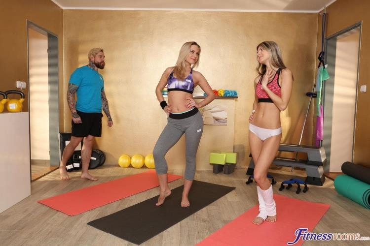 Cristal Caitlin aka Vinna Reed & Gina Gerson - Girly buddies seduce gym instructor [FitnessRooms / SD]