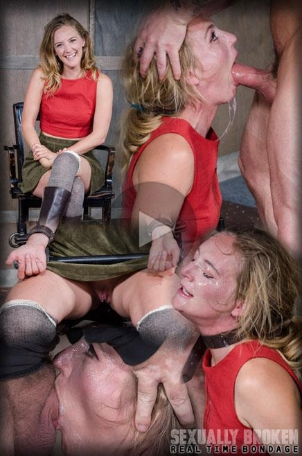 Mona Wales BaRS Part 1: The warm up, bound down in hard metal and face fucked into subspace! (SexuallyBroken) HD 720p