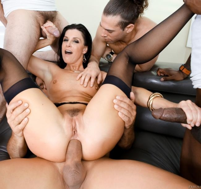 EvilAngel: India Summer - LeWood Gangbang: Battle Of The MILFs 2, Scene 2  [HD 720p]  (Group)