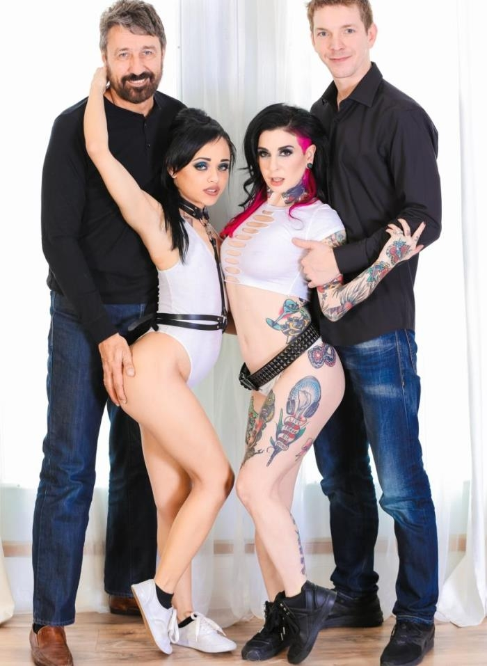 BurningAngel - Joanna Angel, Holly Hendrix - Double Anal FTW [HD 720p]
