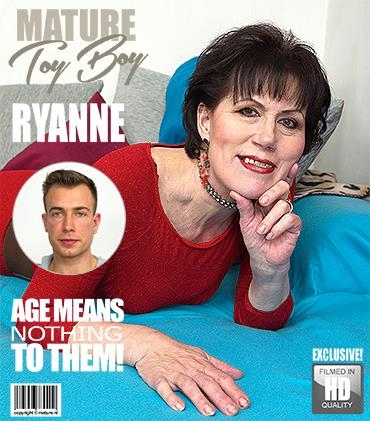 Mature.nl / Mature.eu - Ryanne (60) - Horny housewife doing her toyboy [FullHD, 1080p]