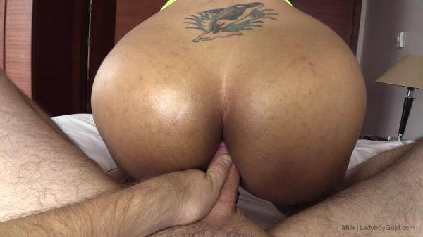 Milk - Slutwear Milking Cumshot on Ass - LadyBoy.com (HD, 720p)