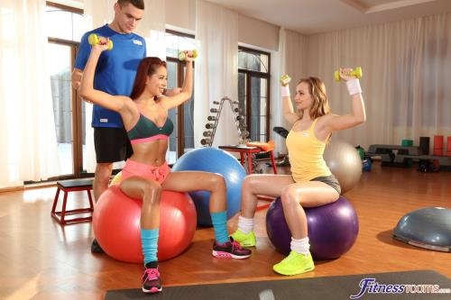 FitnessRooms.com [Naughty girls cock hungry threesome] SD, 480p