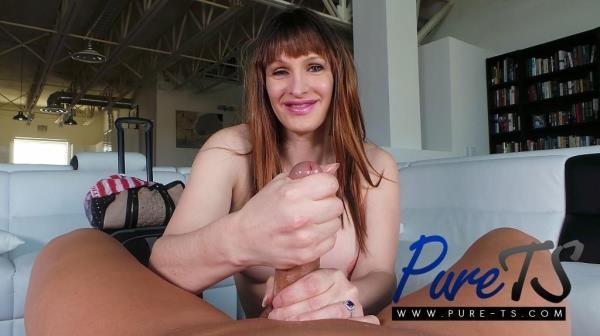 Tasha Jones - Super busty shemale Tasha Jones sucks a big dick [FullHD 1080p]