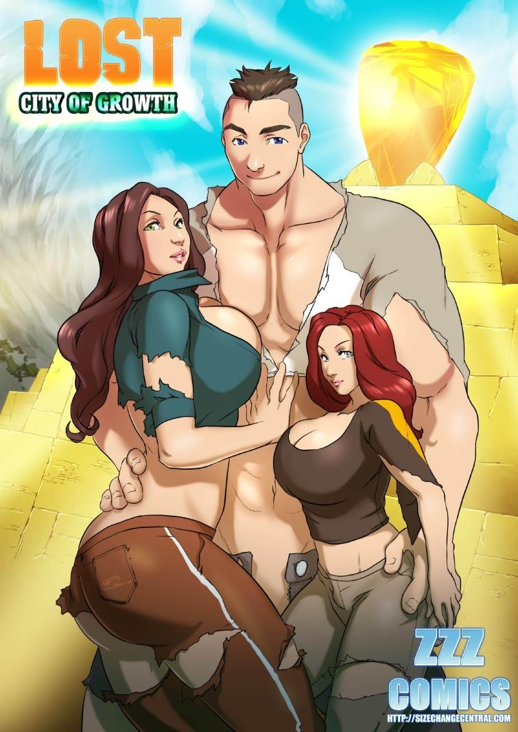 Two sexy babes fuck monster cock in ZZZ Comics with Dick Growth fetish - Lost City of Growth CE [49  pages]