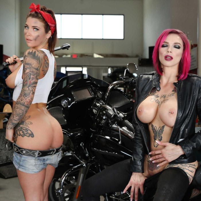 HotAndMean/Brazzers - Anna Bell Peaks,Felicity Feline - Bloodthirsty Biker Babes: Part 1 [HD 720p]