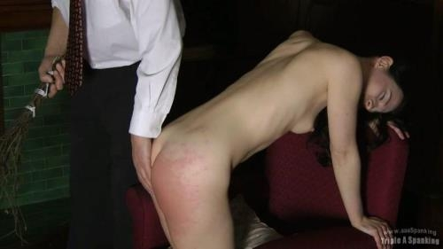 Triple A Spanking [Birched Maid] HD, 720p
