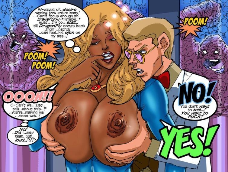 Interracial sex with big breasted babes in Comics and Artwork by Superposer [42  pages]