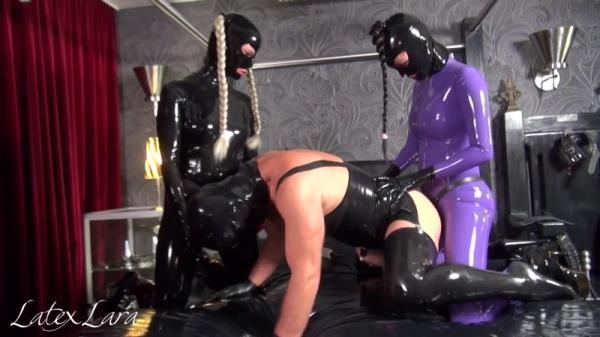 Latex Lara and Fetish Izzy Double Strapon - Clips4sale.com (HD, 720p)