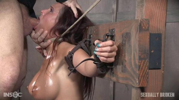 SexuallyBroken - Syren De Mer experiences her most brutal sex scene ever. Neck bound, face fucked on a sybian! [HD, 720p]