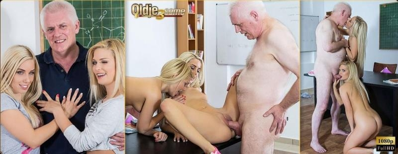 Oldje-3some.com: Candee Licious, Nesty, Nick - Naughty Students [HD] (351 MB)