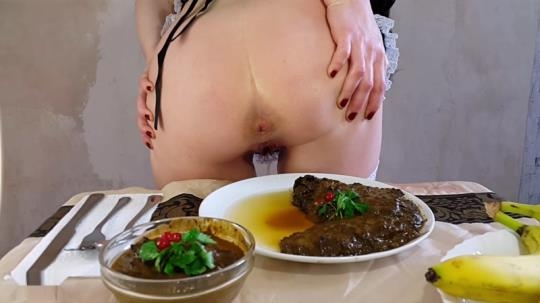 Scat Porn: Anna - Private Dinner Part 1 - Solo Scat (FullHD/1080p/841 MB) 24.05.2017