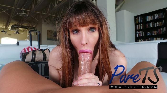 Pure-ts - Tasha Jones - super busty shemale Tasha Jones sucks a big dick [FullHD 1080p]