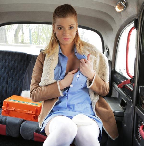 Chrissy Fox - Nurse in Sexy Lingerie has Car Sex (FakeTaxi) [HD 720p]