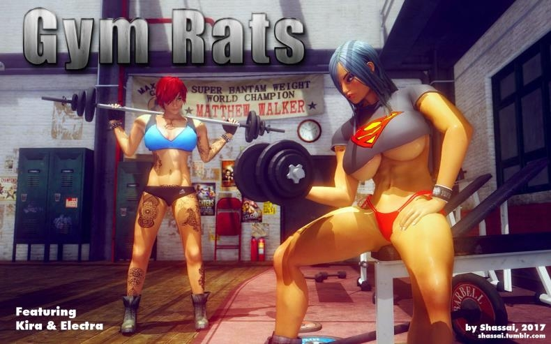 Shassai - Gym Rats (3d porn comics/8  pages/5.40 MB)