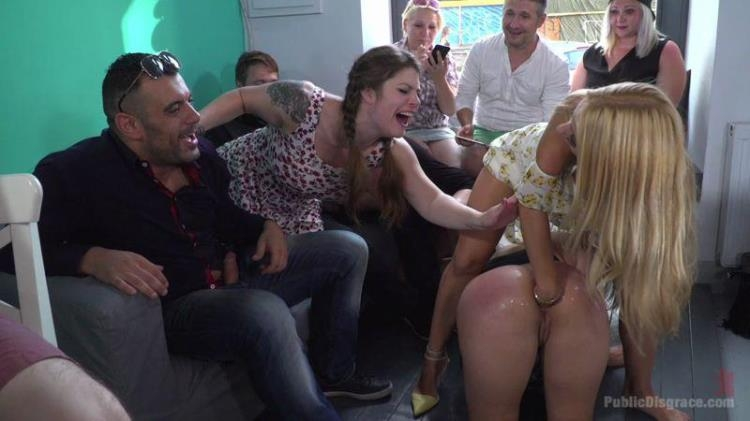 Cindy Loarn, Nikki Thorne, Lucia Love and Amirah Adara - Fuckfest In Budapest [PublicDisgrace / HD]