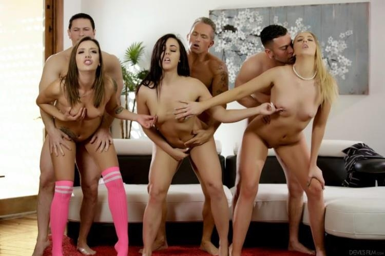 Whitney Wright, Chloe Scott, Sophia Grace, John Strong, Seth Gamble, Marcus London - Neighborhood Swingers 16 [DevilsFilm / SD]