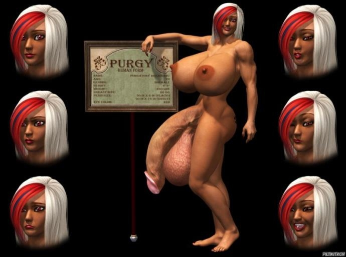 Purgy - Blonde Shemale Babe With Big Dick art by Piltikitron (10.03 MB)