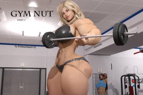 3d porn comics: Muscular giantess babe has fun with tiny male in Gym Nut - Part 1 art by EndlessRain0110 (77 Pages/103.08 MB) 13.05.2017