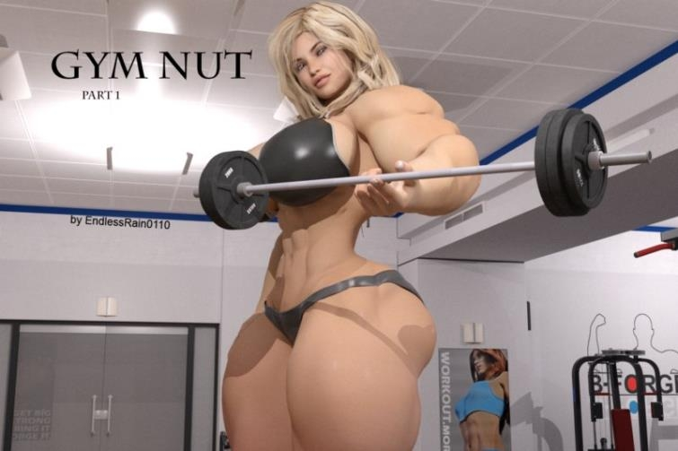 Muscular giantess babe has fun with tiny male in Gym Nut - Part 1 art by EndlessRain0110 [77  pages]