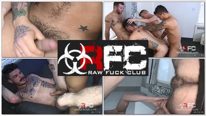 Luke Harding, Seth Knight, Jay Conrad, Parker Allen - Hole Stretchers (RawFuckClub) HD 720p