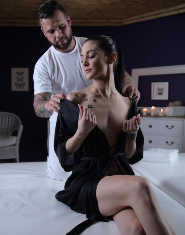 MassageRooms: Lullu Gun  - Nympho Brunette Orgasms on Big Dick (2017) HD  720p