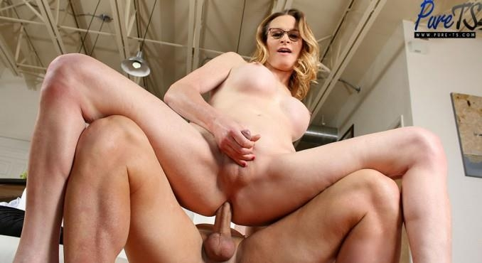 Miss Marcy - Busty MILF Marcy fucks a lucky guy (Pure-ts) FullHD 1080p