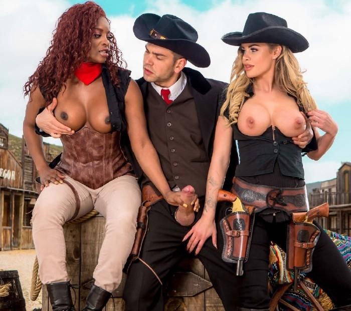 Jasmine Webb, Jessa Rhodes - Rawhide Scene 5 (Threesome) - DigitalPlayGround   [HD 720]
