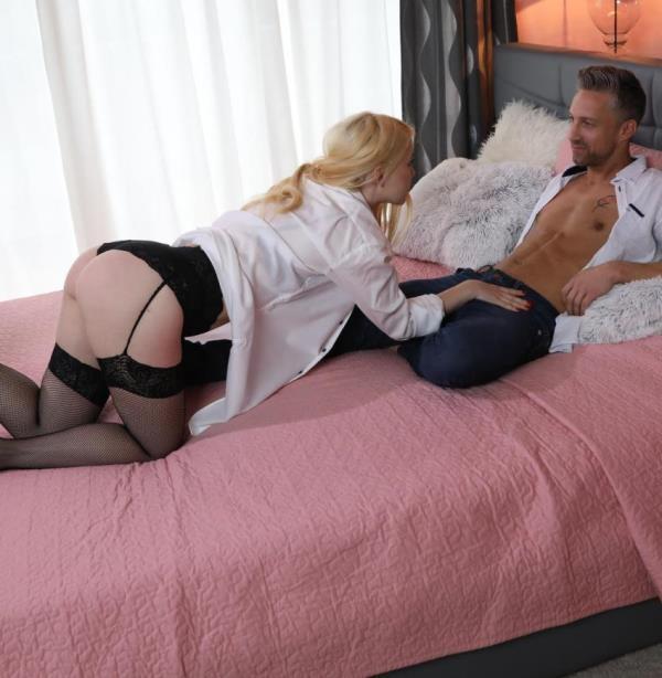 DaneJones:  Misha Cross  - Cute Blonde in Suspenders and Lace (2017) FullHD  1080