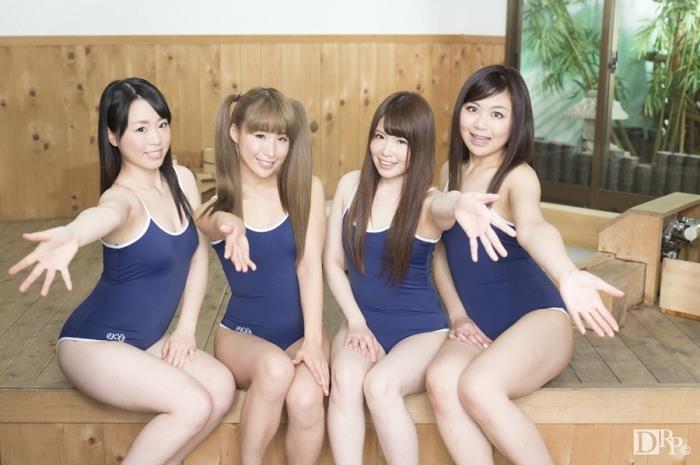 10Musume - Yuka Uehara, Hana Saki, Natsukawa Meg, Hotsuki Natsume - Group Sex With A Young Swimmer Girls [SD 540p]