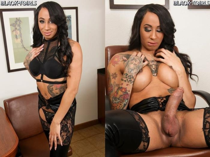 Honey Foxxx - Honey Foxxx Returns Hard & Horny! (Black-TGirls) HD 720p