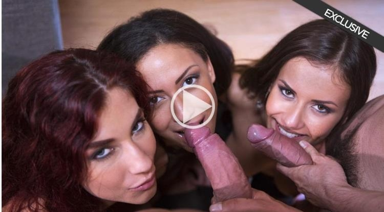Mina Sauvage, Shona River, Cassie Del Isla - Perverse orgy with 3 hot girls [DorcelClub / FullHD]