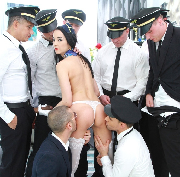 LegalPorno - Francys Belle - Francys Belle takes a flight with Gabgbang airlines SZ1718  [SD  480p]