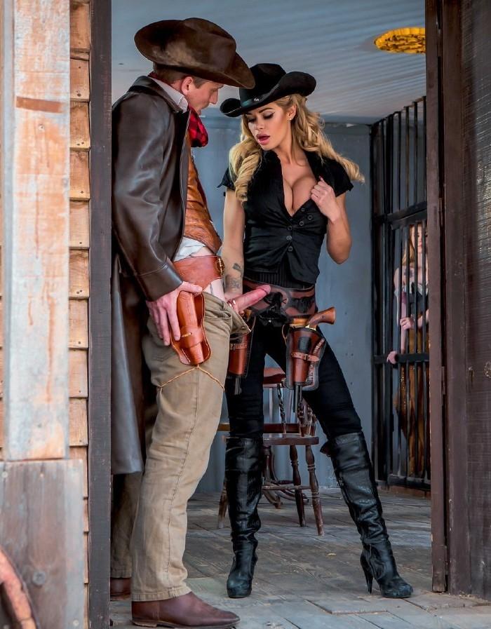 Misha Cross, Jessa Rhodes- Rawhide Scene 2  [HD 720p] DigitalPlayGround